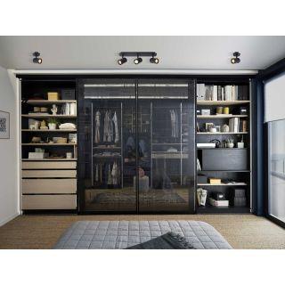 Spot plafond Lennert pour salle de bains métal noir mat
