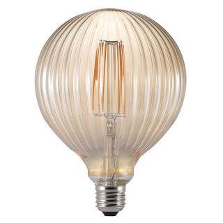 Ampoule à filament LED Avra striée ambre E27 2W