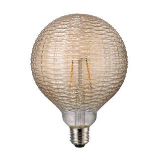 Ampoule à filament LED Avra tressée ambre E27 1,5W