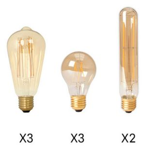 Set de 8 ampoules à filament LED pour suspension Ilo Ilo 8l
