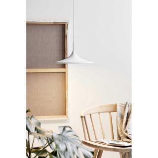 Suspension Skip 35 éclairage LED intégré blanc d.35 cm