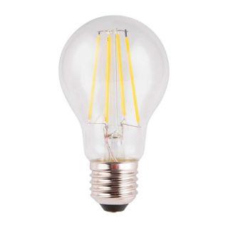 Ampoule à filament LED A60 Edison verre transparent E27 8W