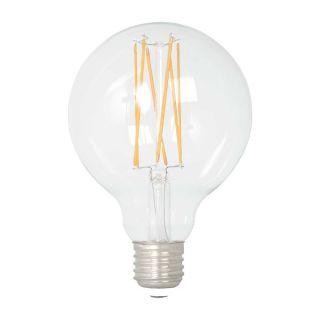 Ampoule à filament LED G80 Globe dimmable verre transparent E27 8W