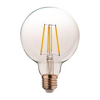 Ampoule à filament LED G95 Globe dimmable verre transparent E27 8W
