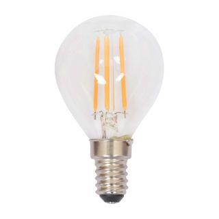 Ampoule à filament LED P45 Edison dimmable verre transparent E14 4W