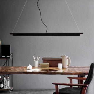 Suspension SpaceB éclairage LED intégré aluminium noir