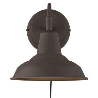 luminaire nordlux applique murale andy métal et plastique rouille 11020006 principale
