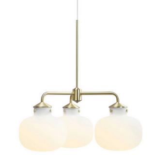 luminaire nordlux lustre raito 3 globes métal et verre opalin 11010030 principale