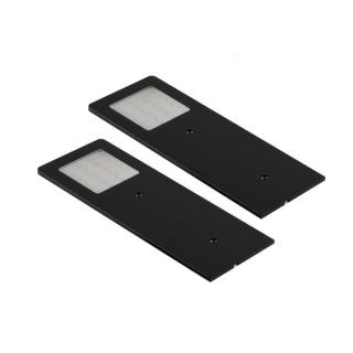 Lot de 2 appliques LED extra-plates noir brossé