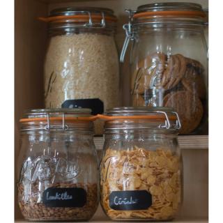 Etiquettes adhésives ardoise pour cache-pots et bocaux