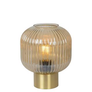 luminaire lucide lampe de table maloto verre ambre et métal doré mat 11050001 principale