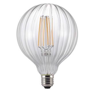 luminaire nordlux ampoule à filament led avra stripes verre transparent e27 2w 11060019 principale