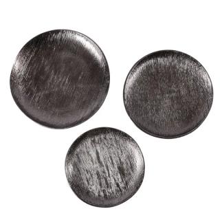 Assiette décorative Steel L en métal noir