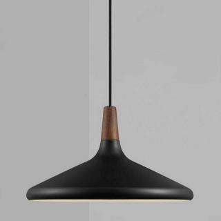 Suspension Nori 39 métal noir et bois FSC d.39 cm