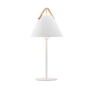 luminaire design for the people lampe de table strap métal blanc et sangle en cuir 11050005 principale