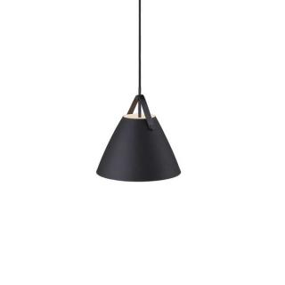luminaire design for the people suspension strap 27 métal noir et sangle en cuir 11010041 principale