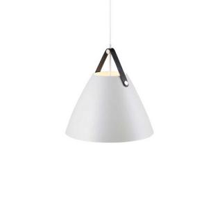 luminaire design for the people suspension strap 36 métal blanc et sangle en cuir 11010042 principale