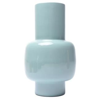 Vase Talie en fer émaillé bleu ciel