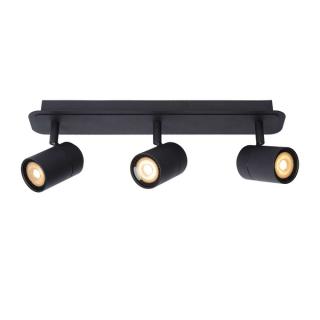 luminaire lucide plafonnier salle de bains lennert barre 3 spots métal noir mat 11030003 principale