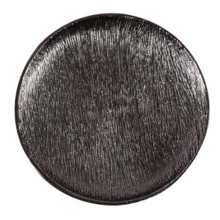 Assiette décorative Steel M en métal noir