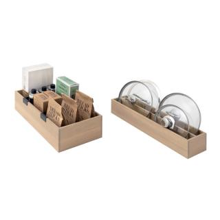 Set de 2 boîtes de rangement en bois pour casserolier Schmidt
