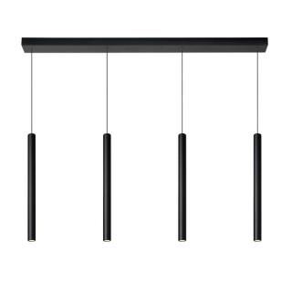 Lustre Lorenz 4 LED intégrées aluminium noir mat