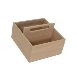 Panier de rangement en bois pour casserolier Schmidt
