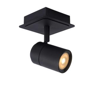 luminaire lucide spot plafond lennert pour salle de bains métal noir mat 11030001 principale