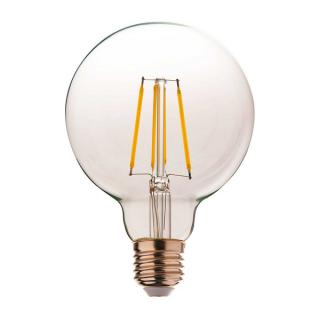 luminaire market set ampoule à filament led g95 globe dimmable verre transparent e27 8w 11060009 détail 1
