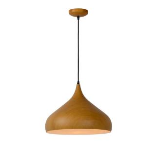 luminaire lucide suspensionwoody métal imprime bois foncé 11010002 détail 1