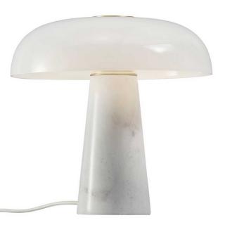 Lampe de table Glossy en marbre et verre opalin