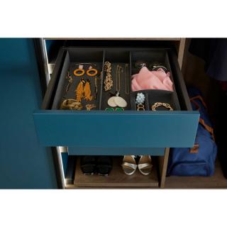 Séparateur en velours pour tiroir de dressing