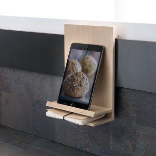 Support pour iPad et tablette multimédia en chêne Longitude