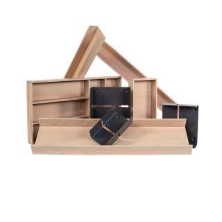 Range-couverts bois modulable 8 éléments pour tiroir Schmidt grande profondeur