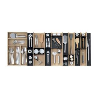 Range-couverts bois modulable XL 9 éléments pour tiroir Schmidt