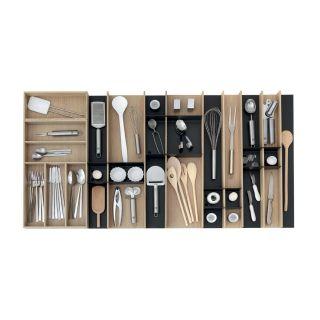 Range-couverts bois modulable XL 10 éléments pour tiroir Schmidt grande profondeur