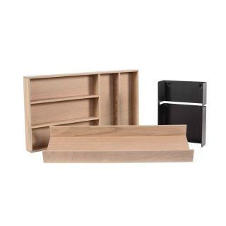 Range-couverts bois modulable 3 éléments pour tiroir Schmidt