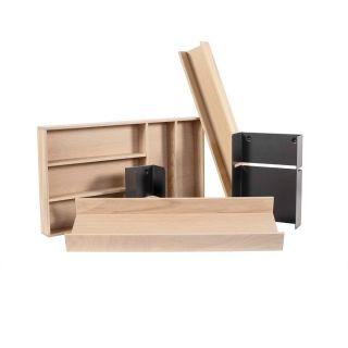 Range-couverts bois modulable XL 5 éléments pour tiroir Schmidt