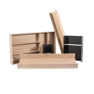 Range-couverts bois modulable 5 éléments pour tiroir Schmidt