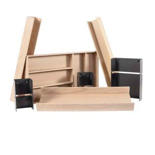 Range-couverts bois modulable XL 7 éléments pour tiroir Schmidt