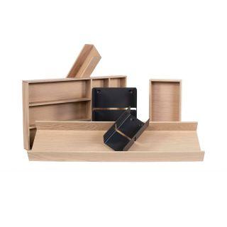 Range-couverts bois modulable 6 éléments pour tiroir Schmidt grande profondeur