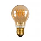 luminaire lucide ampoule filament led à intensité variable verre ambre e27 5w 11060001 détail 1