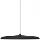 luminaire design for the people suspension artist 40 éclairage led intégré métal noir et verre opalin 11010039 principale