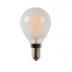 luminaire lucide ampoule filament led à intensité variable verre mat e14 4w 11060003 détail 1