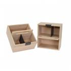 Set de 2 paniers de rangement en bois pour casserolier Schmidt