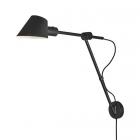 luminaire nordlux applique murale stay longwall métal et aluminium noir 11020012 principale