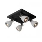 luminaire lucide plafonnier concri led 4 spots métal noir mat et béton gris 11030008 principale