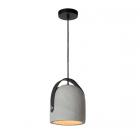 luminaire lucide suspension copain béton taupe et noir 11010003 principale