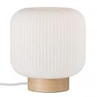 luminaire nordlux lampe de table milford verre et bois naturel 11050011 principale