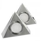 Lot de 2 appliques LED triangulaires finition acier